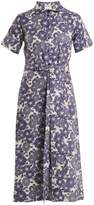 Lisa Marie Fernandez Floral-print short-sleeved linen dress