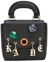 Christopher Kane Bonnie stone charm shoulder bag - women - Calf Leather - One Size