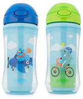 Dr Browns 2-Pack 10 oz. On-The-Go Insulated Straw Cups in Blue