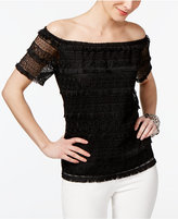INC International Concepts Off-The-Shoulder Lace Top, Only at Macy's