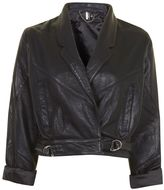 Topshop Cropped Leather Jacket