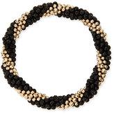 Meredith Frederick Audrey 14k Gold and Black Onyx Bead Bracelet