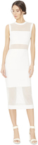 Alice + Olivia Karman Fitted Long Sheer Insert Dress