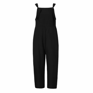 jieGorge Pants for Women Womens Linen Long Playsuit Dungarees Harem Pants Ladies Overall Jumpsuit