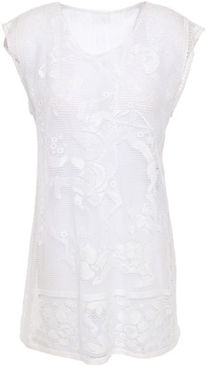 Dolce & Gabbana Crocheted Cotton-blend Lace Top