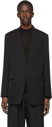 Jil Sander Black Folded Collar Blazer