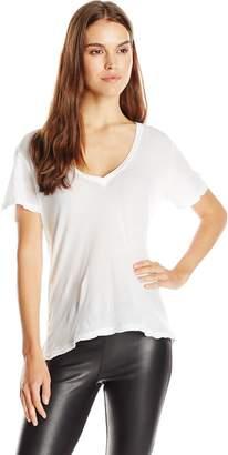 Monrow Women's Tissue Oversized V-Neck T-Shirt