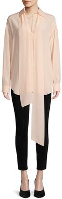 Chloé Long-Sleeve Silk Shirt