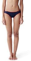 Lands' End Women's Ruffle Bikini Bottoms-Deep Sea Raining Stars