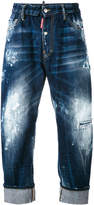 DSQUARED2 paint splatter loose fit jeans