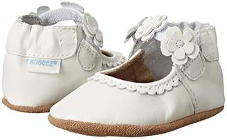 Robeez Claire Mary Jane Soft Soles (Infant/Todler) (White) Girl's Shoes
