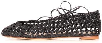 Francesco Russo Woven Flat in Black