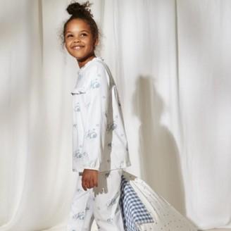 The White Company Heather Rose-Print Pyjamas (1-12yrs), White Blue, 7-8yrs