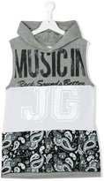John Galliano sleeveless hoodie - kids - Cotton - 14 yrs
