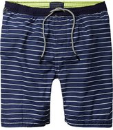 Scotch & Soda Medium Length Swim Shorts - Blue Stripe