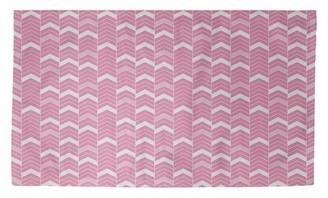 Brayden Studio Stephenie Lined Chevrons Pink Area Rug Rug Size Rectangle 4 X 6 Shopstyle