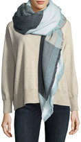 Michael Stars Brushed-Knit Square-Print Scarf