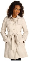 DKNY Crisscross Storm Flap Single Breasted Trench (Muslin) - Apparel