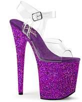 Pleaser USA Women's Flam808lg/Cforwardslashppg Platform Sandal