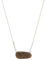 Meira T 14K Two-Tone Gold, Druzy & 0.07 Total Ct. Diamond Pendant Necklace