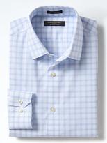 Banana Republic Grant-Fit Non-Iron Stretch Windowpane Shirt