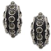 Azaara Vintage Black Diamond Swarovski Crystal Silverplated Drop Earrings