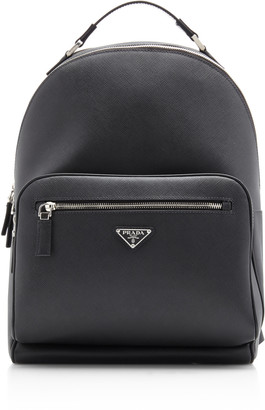 Prada Textured-Leather Backpack