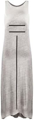 Thom Krom Stripe Print Midi Dress