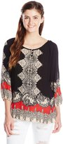Angie Junior's Printed Raglan Sleeve Top
