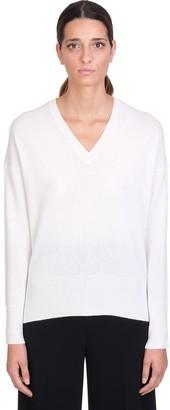 Theory Karenia Knitwear In White Cashmere