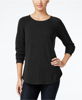 Karen Scott Petite Raglan-Sleeve Sweater, Only at Macy's