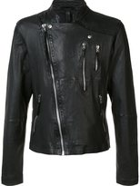 Barbara I Gongini asymmetric biker jacket