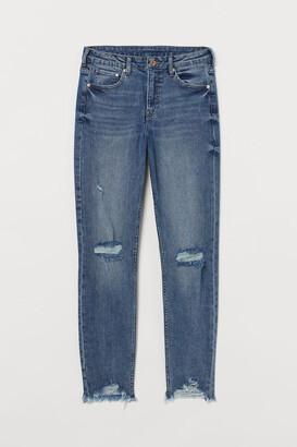 H&M Girlfriend Regular Jeans - Blue