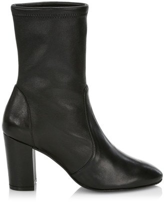 Stuart Weitzman Yuliana Leather Sock Boots