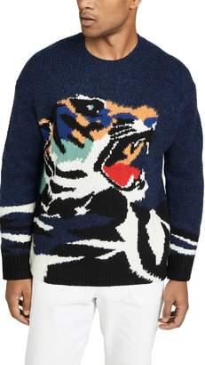 Kenzo Tiger Intarsia Crew Neck Sweater