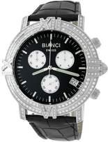 Roberto Bianci Men's 1849F_BLK_BLKBND Diamond Accented Chronograph Date Watch