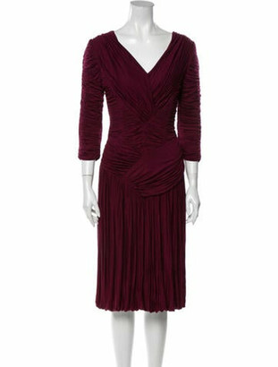 Burberry V-Neck Midi Length Dress