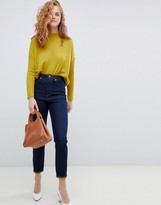 Asos Design DESIGN Recycled Farleigh high waisted slim mom jeans in one year aged stonewash