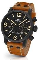 TW Steel Maverick Chronograph Leather Strap Watch, 45mm