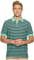 Nautica Short Sleeve Stripe Classic Deck Polo Men's Clothing