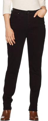 Denim & Co. Petite Color Slim Straight Leg 5-Pocket Jeans