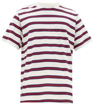 Noon Goons Oversized Striped Cotton T-shirt - Mens - Red White