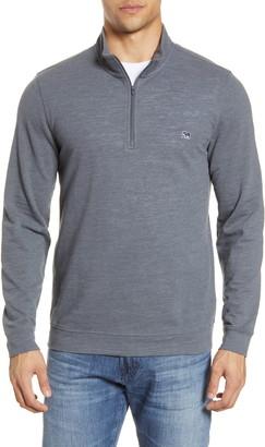 The Normal Brand Quarter Zip Pique Pullover