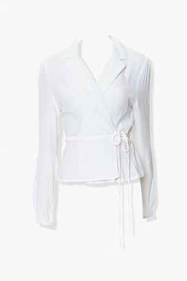 Forever 21 Collared Wrap Top