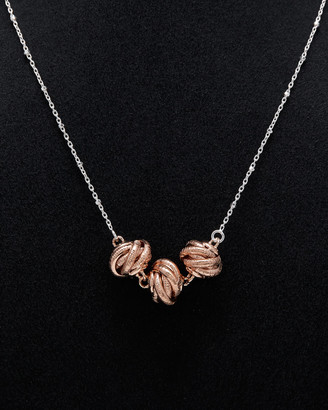 Italian Silver Love Knot Necklace
