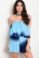 Tracie's Tie Dye Blue Romper