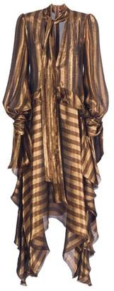 Maria Lucia Hohan Calais Metallic Striped Dress