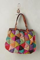Jamin Puech Woven Mosaic Carryall Bag