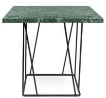 Brayden Studio Sligh Coffee Table Base Color: Black Lacquered Steel, Top Color: Green Marble