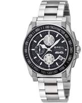 Breil Milano Men's Quartz Watch with Black Dial Chronograph Display and Silver Stainless Steel Bracelet TW0733